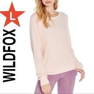 WildFox sweater pink Large NWT
